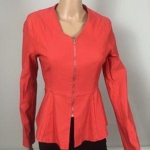 2B Bebe Orange Zip Up Blazer